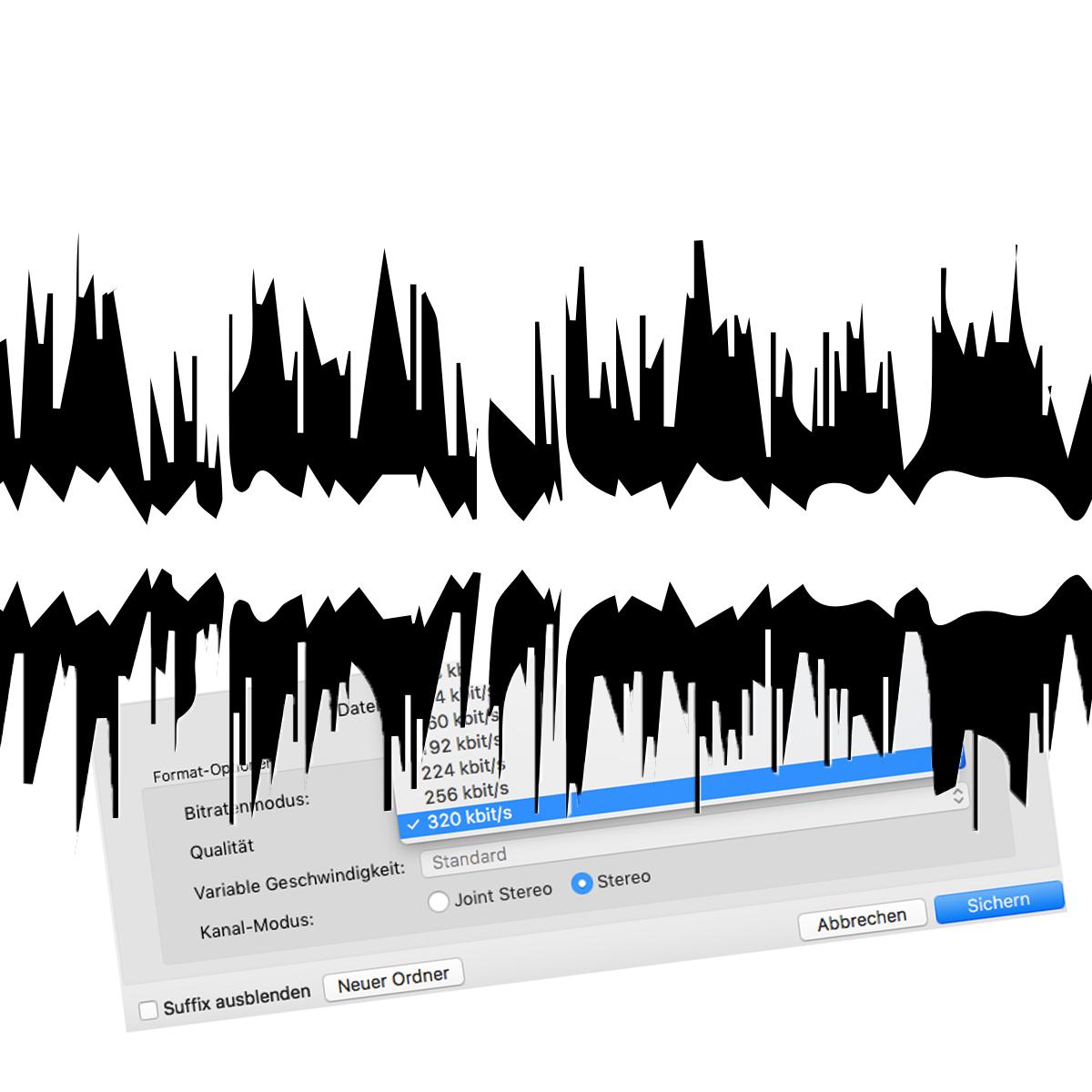 Musik streaming kwalitäät