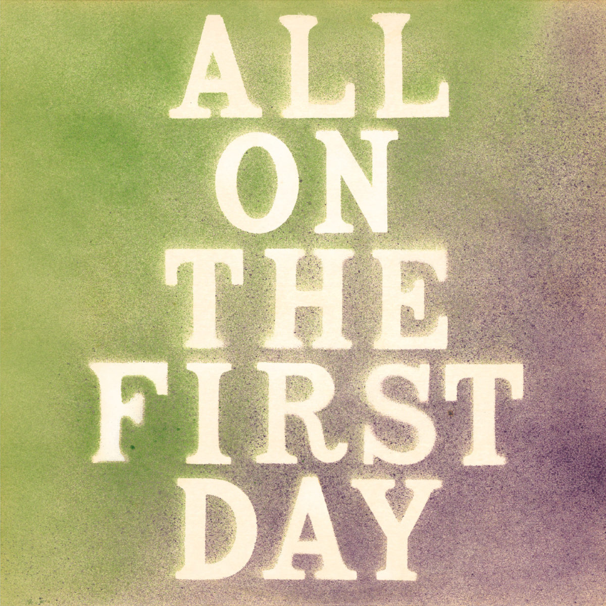 Cover faan't album All on the First Day faan Tony Caro & John © Tapete Records